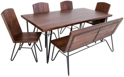 Int'l Furniture Taos Table, 4 Chairs & 1 Bench