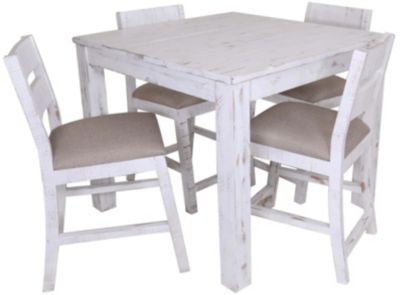 Int'l Furniture Pueblo White 5-Piece Counter Dining Set