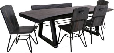 Int'l Furniture Moro Live Edge 6-Piece Dining Set