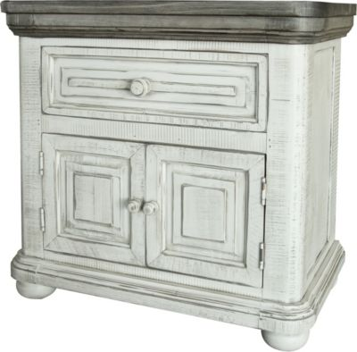 Int'l Furniture Luna White Nightstand
