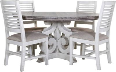 Int'l Furniture Stone Table & 4 Side Chairs