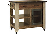 Int'l Furniture Antique Kitchen Mini Island