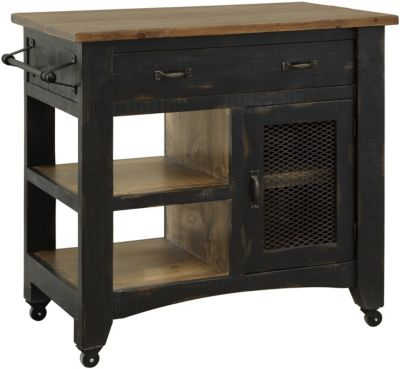 Int'l Furniture Pueblo Black Kitchen Mini Island