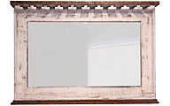 Int'l Furniture Pueblo White Bar Mirror