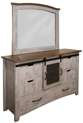 Int'l Furniture Pueblo Dresser with Mirror