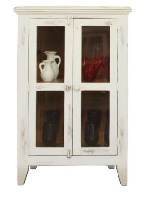 Int'l Furniture Antique White Console with 2 Doors