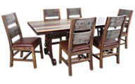 Int'l Furniture Antique Dining Table & 6 Chairs