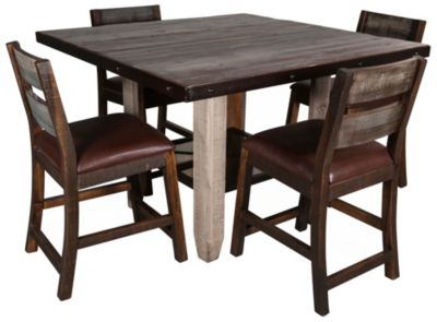 Int'l Furniture Antique Counter Table & 4 Stools
