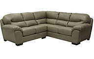 Jackson Lawson Putty 3-Piece Bonded Leather Sectional
