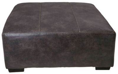 Jackson Grant Steel Bonded Leather Oversized Ottoman