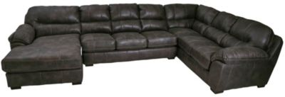 Jackson Grant Steel Bonded Leather 3-Piece Sectional