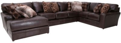 Jackson Denali Chocolate Leather 3-Piece Sectional