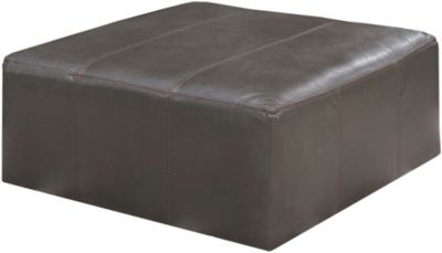 Jackson Denali Leather 51-Inch Steel Cocktail Ottoman