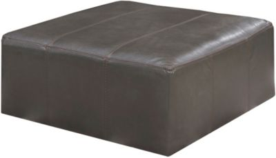 Jackson Denali Leather 40-Inch Steel Cocktail Ottoman