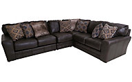 Jackson Denali Steel Leather 4-Piece Sectional