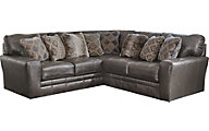 Jackson Denali Steel Leather 3-Piece Sectional