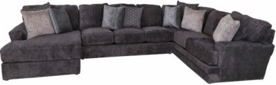 Jackson Mammoth Smoke LSF Chaise 3-Piece Sectional