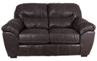 Jackson Grant Steel Bonded Leather Loveseat
