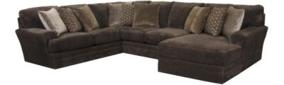 Jackson Mammoth Chocolate 3-Piece Sectional with Right-Fac