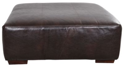 Jackson Lawson Godiva Bonded Leather Cocktail Ottoman