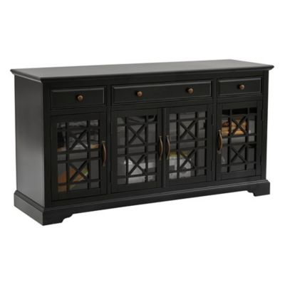 Jofran Craftsman Antique Black 60-Inch Media Unit