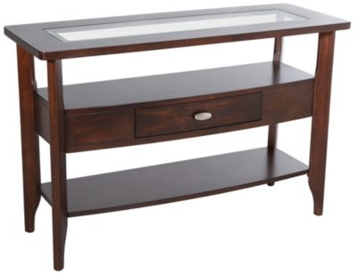 Jofran Montego Merlot Sofa Table Homemakers Furniture