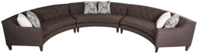Jonathan Louis Cleo 3-Piece Curved Sectional