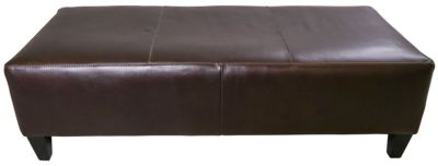 Jonathan Louis 100% Leather Rectangle Ottoman