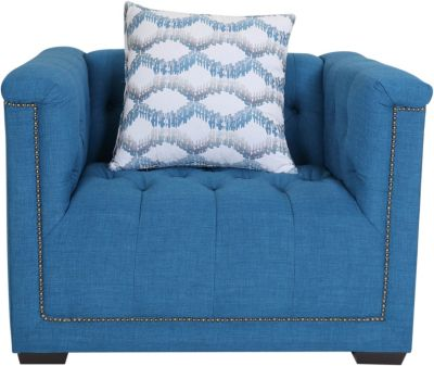 Jonathan Louis Roosevelt Arm Chair with 1 Pillow