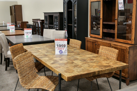 Clearance Center Dining Table and Stools