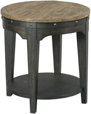 Plank Road Round End Table
