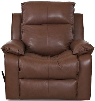 Klaussner Castaway Chocolate Leather Rocker Recliner