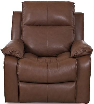 Klaussner Castaway Chocolate Leather Power Recliner