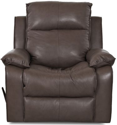 Klaussner Castaway Espresso Leather Rocker Recliner