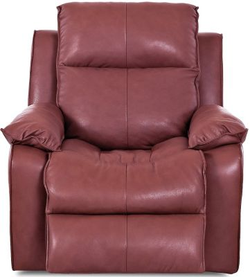 Klaussner Castaway Red Leather Power Recliner