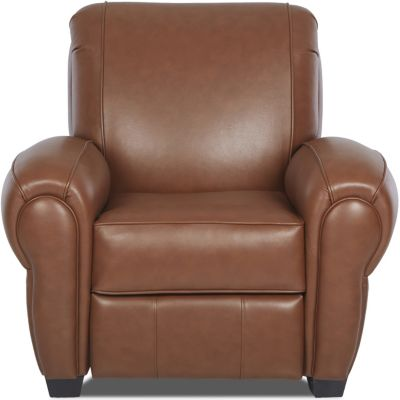 Klaussner Cigar Bronze Leather Recliner