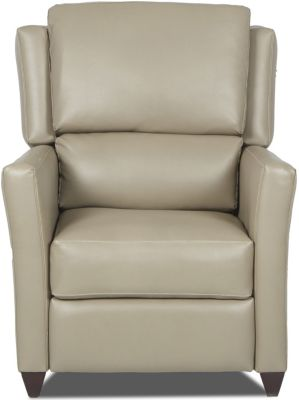 Klaussner Madra Beige Press Back Recliner