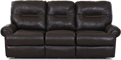 Klaussner Roadster Espresso Leather Power Reclining Sofa