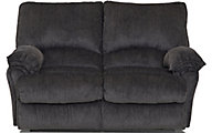 Klaussner Weatherstone Charcoal Reclining Loveseat