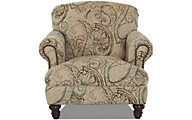 Klaussner Barnum Cream Paisley Chair
