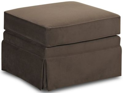 Klaussner Carolina Chocolate Ottoman