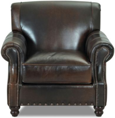 Klaussner Fremont 100% Leather Chair