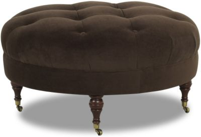 Klaussner Janelle Chocolate Cocktail Ottoman