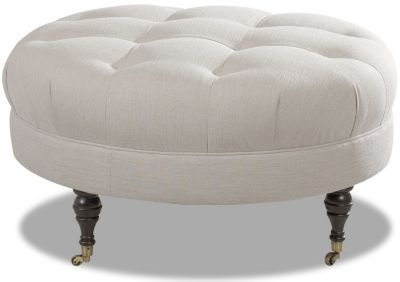 Klaussner Janelle Cream Cocktail Ottoman