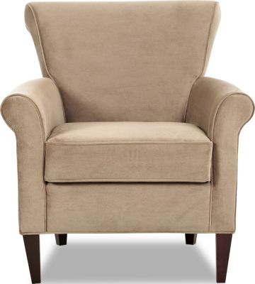 Klaussner Louise Cream Accent Chair