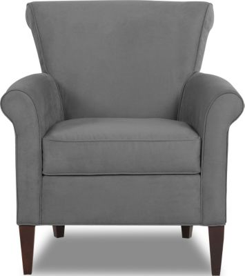 Klaussner Louise Gray Accent Chair