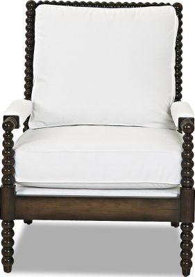 Klaussner Rocco White Accent Chair