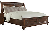 Klaussner Whittington Pine Queen Storage Bed