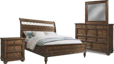 Klaussner Southern Pines 4-Piece Queen Bedroom Set | Homemakers ...