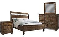 Klaussner Southern Pines 4-Piece Queen Bedroom Set